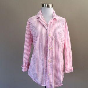 Ralph Lauren Pink White XL Striped Shirt